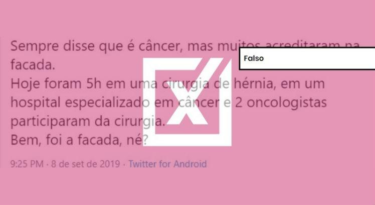 comprova bolsonaro cancer