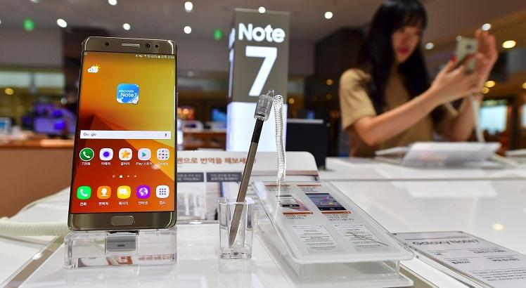 Samsung Galaxy Note7. AFP PHOTO / JUNG YEON-JE