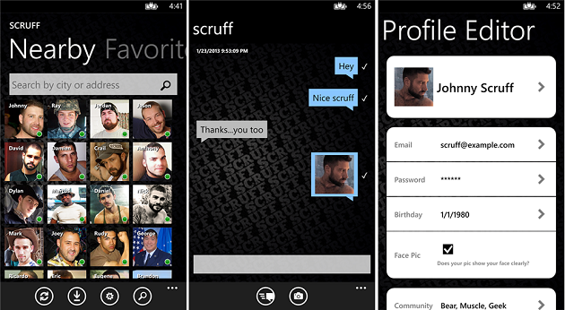 scruff app for android